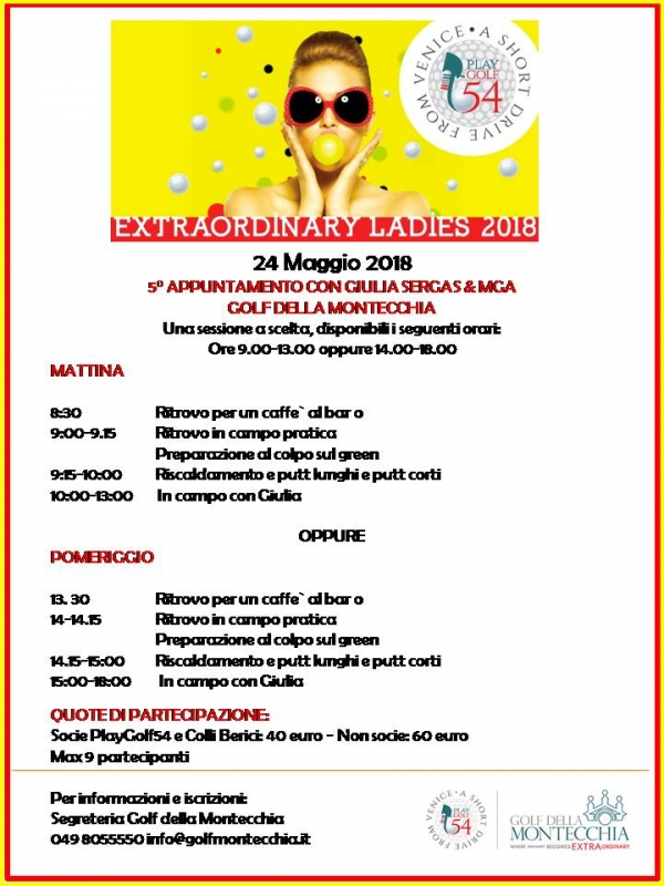 24 maggio 2018 - 5° appuntamento Extraordinary Ladies