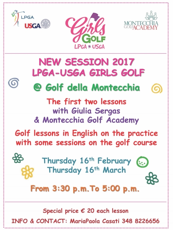 New Girls Golf Session 2017 @Golf della Montecchia