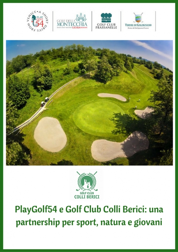 NUOVA PARTNERSHIP TRA PLAYGOLF54 E GOLF CLUB COLLI BERICI